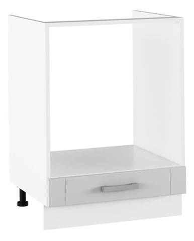 Spodná sporáková skrinka svetlosivá/biela JULIA TYP 58