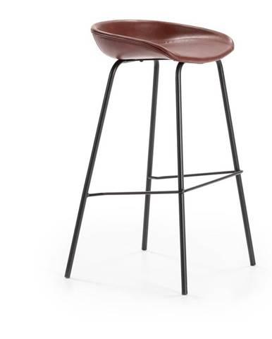 Vínovočervená barová stolička Marckeric Eddie