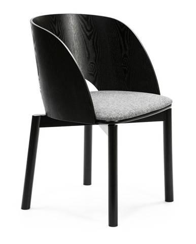 Čierna stolička so sivým podsedákom Teulat Dam