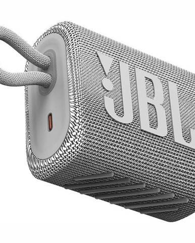 Prenosný reproduktor JBL GO3 biely