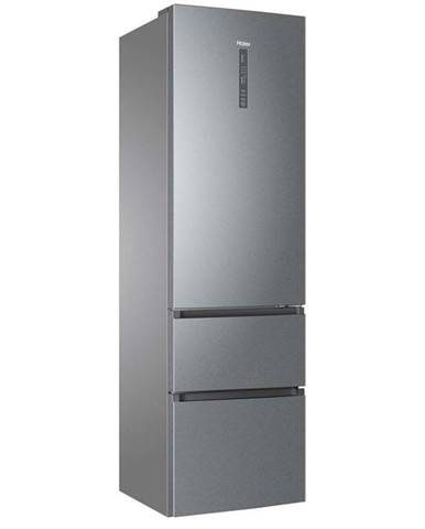 Kombinácia chladničky s mrazničkou Haier A3fe837cgj Titanium