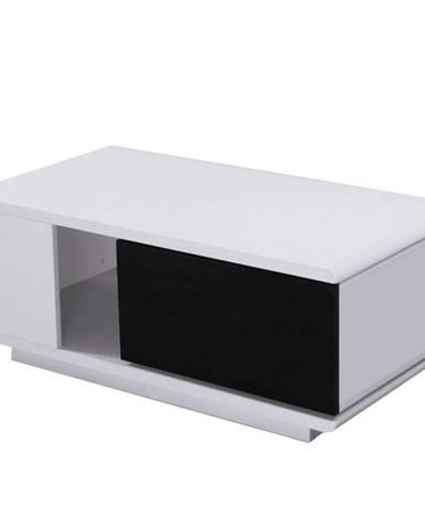 Konferenčný stolík biela/čierna HG DEMBA NEW