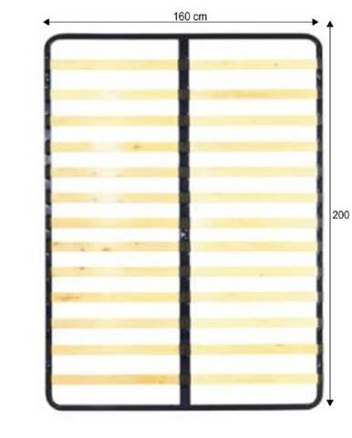Rošt v pevnom ráme 160x200 KOVOVÝ ROŠT 7866