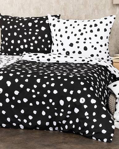 4Home Bavlnené obliečky Dalmatín čiernobiela, 160 x 200 cm, 70 x 80 cm