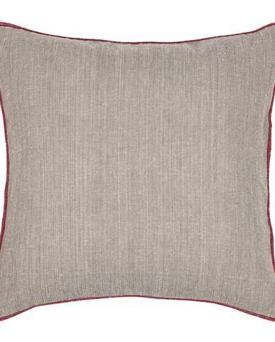 Trade Concept Obliečka na vankúš Heda béžová / červená, 40 x 40 cm