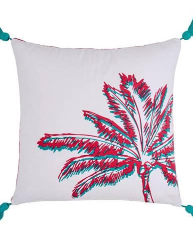 Dekoračný Vankúš Diamond Palm,45/45cm, Biela