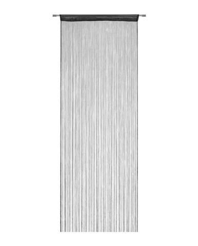 Nitkový Záves Franz, 90/245 Cm, Čierna