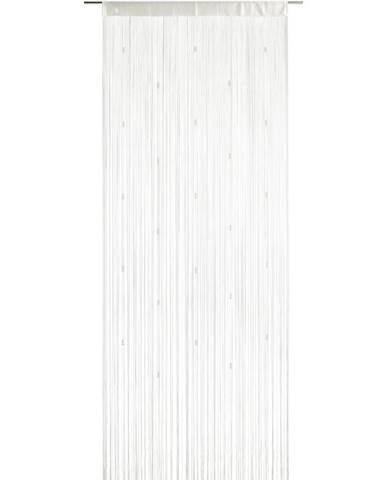 Nitkový Záves Perle, 90/245 Cm, Biela
