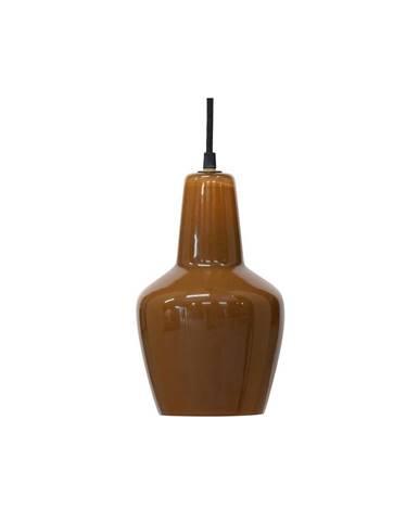 Hnedé sklenené stropné svietidlo BePureHome Syrup, ø 22 cm