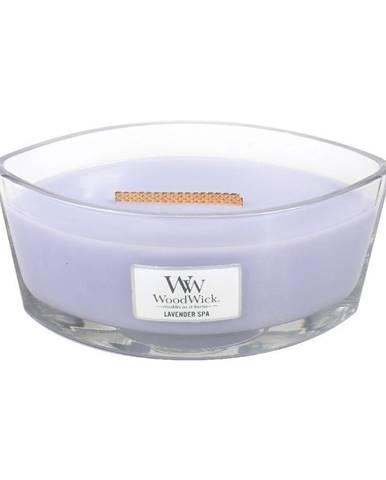 Vonná sviečka Woodwick Levanduľový kúpeľ, 30 hodín horenia