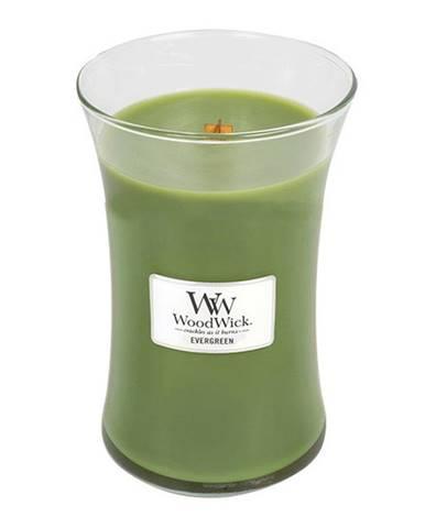 Vonná sviečka WoodWick Vôňa ihličia, 110 hodín horenia