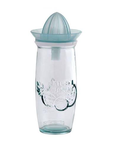 Biely pohár s odšťavovačom z recylovaného skla Ego Dekor Juice, 0,55 l