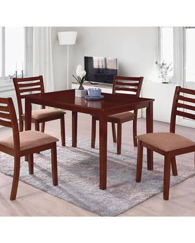 Stôl + 4 stoličky BARCELONA lak čerešňa