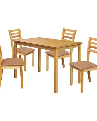 Stôl + 4 stoličky BARCELONA lak javor