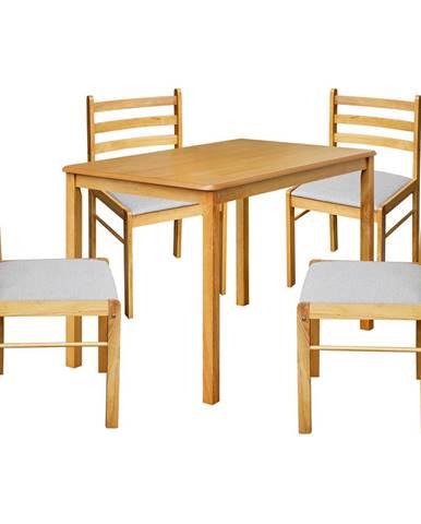 Stôl + 4 stoličky FARO lak javor