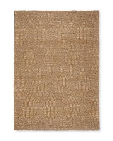 Ručne Tkaný Koberec Kaan, 160/230cm, Prírodná