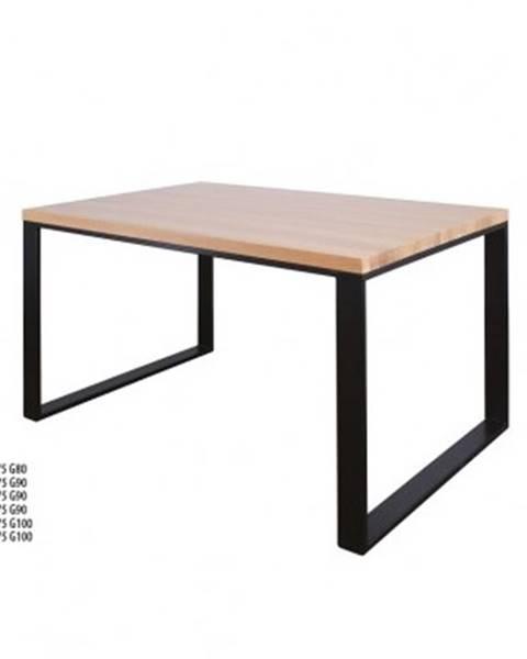 Drewmax Drewmax Jedálenský stôl Metal ST373 / dub / doska 2