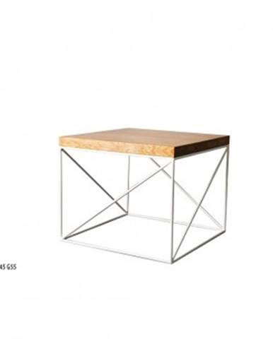 Drewmax Konferenčný stolík Metal ST376 / dub