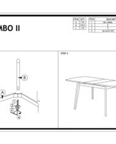 Signal Jedálenský rozkladací stôl COMBO II/ biely