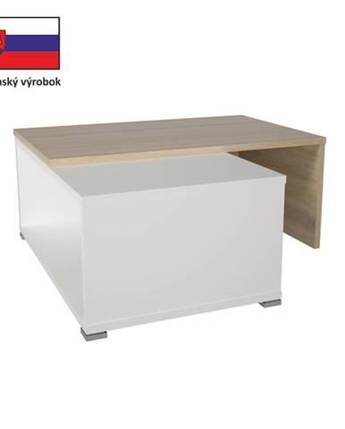 Tempo Kondela Konferenčný rozkladací stôl DRON dub sonoma/biela