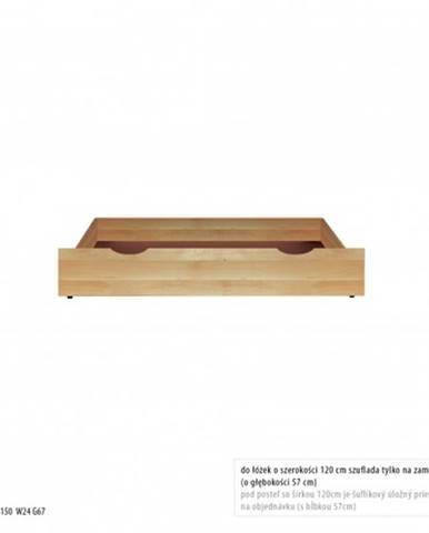 Drewmax Úložný box pod posteľ - masív LK171 / buk