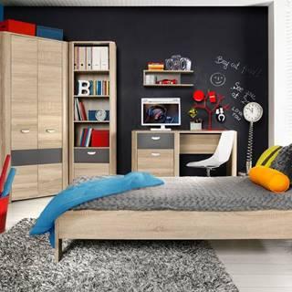 Forte Jednolôžková posteľ Yoop YPL09
