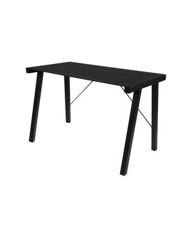 Čierny písací stôl Actona Typhoon