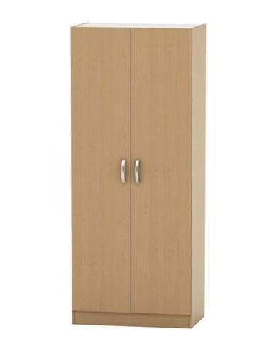 2-dverová skriňa vešiaková poličková buk BETTY 2 BE02-003-00