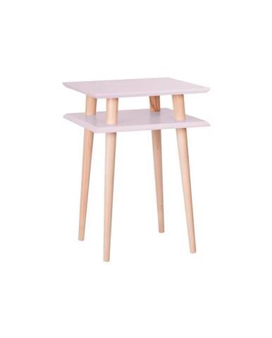 Ružový odkladací stolík Ragaba Square, 43×43cm