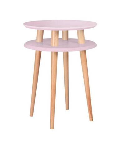 Ružový odkladací stolík Ragaba UFO,⌀45cm