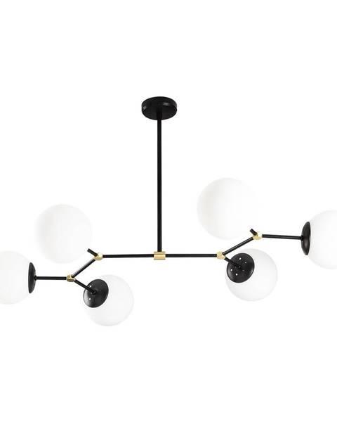 Opviq lights Čierne závesné svietidlo pre 6 žiaroviek Opviq lights Damar Horizontal