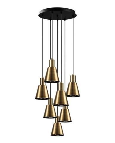 Závesné svietidlo pre 7 žiaroviek v zlatej farbe Opviq lights Kem