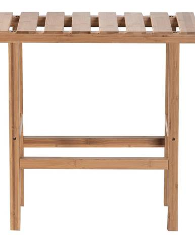 Príručný stolík k vírivke v tvare obdĺžnika prírodný bambus VIREO TYP 2