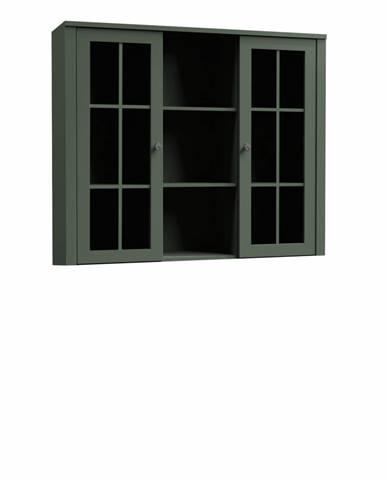 Nadstavec na komodu W2D vitrína zelená PROVANCE