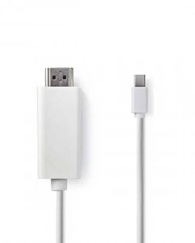 HDMI Kábel Nedis mini DisplayPort, 2 m, biely