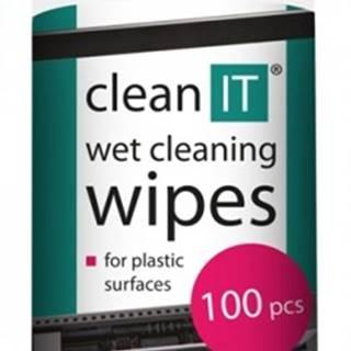 Čistiace obrúsky na plasty CLEAN IT CL142, 100ks