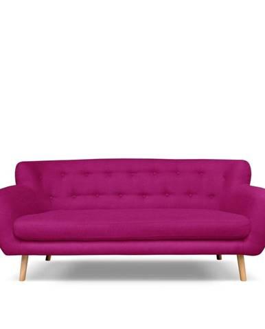 Tmavoružová pohovka Cosmopolitan design London, 192 cm