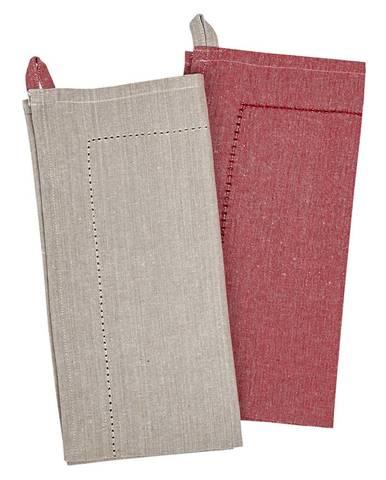 Trade Concept Utierka Heda béžová / červená, 50 x 70 cm, sada 2 ks
