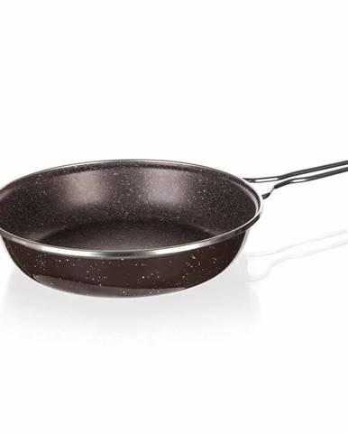 Banquet Panvica smaltovaná GRANITE Dark Brown, 24 cm