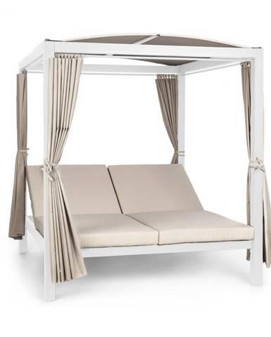 Blumfeldt Eremitage Double XL, slnečné ležadlo, 2 osoby, oceľový rám, slnečná strecha, závesy