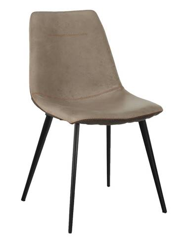 Jedálenská stolička béžová/hnedá DOTS poškodený tovar