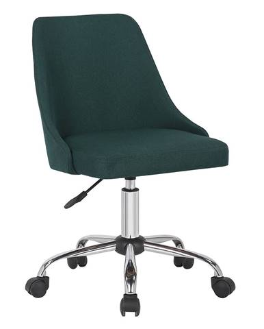 Kancelárska stolička smaragdová/chróm EDIZ