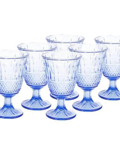 Vintage sklené poháre na víno 6ks 220ml modrá LEGACY