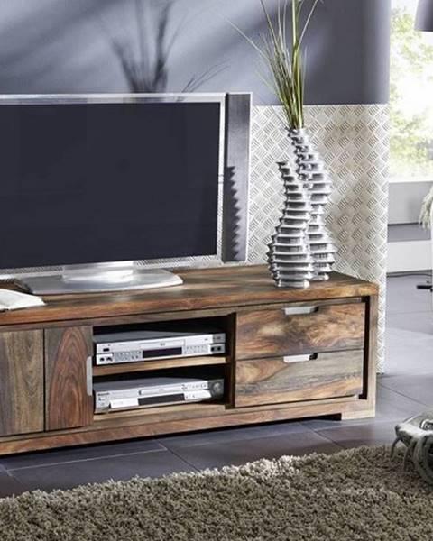 Bighome.sk PLAIN SHEESHAM TV stolík 150x45 cm, palisander
