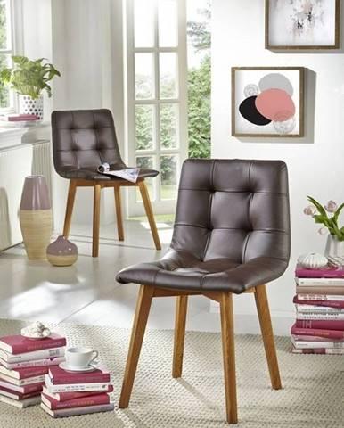 HAMBURG Jedálenská stolička čalúnená, hnedá
