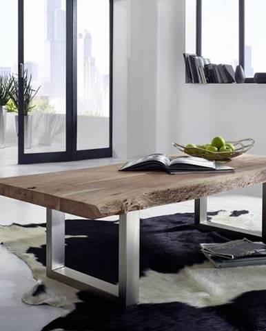 METALL Konferenčný stolík 160x70 cm, akácia