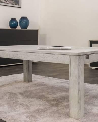 TAMPERE Konferenčný stolík 130x70 cm, dub, svetlosivá