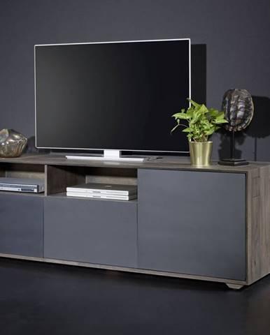 TAMPERE TV stolík 60x180 cm, dub, dymová