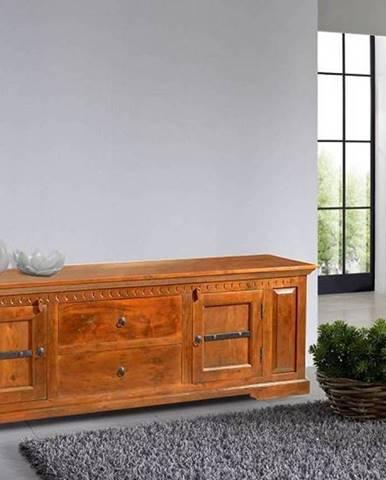 CAMBRIDGE HONEY TV stolík 200x65 cm, akácia