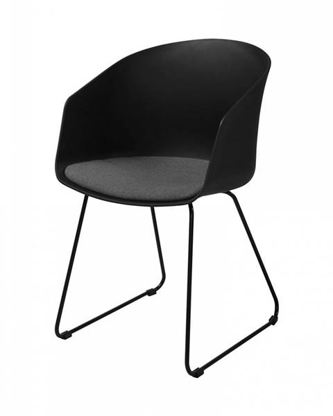 Bighome.sk Jedálenská stolička s opierkami MOON, čierna